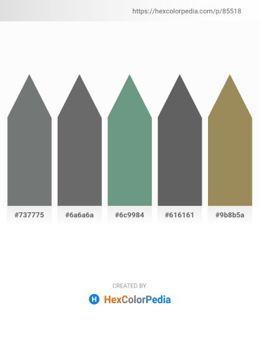 Palette image download - Slate Gray – Dim Gray – Cadet Blue – Dim Gray – Dark Khaki