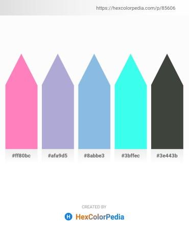 Palette image download - Hot Pink – Light Steel Blue – Sky Blue – Aqua – Dark Slate Gray