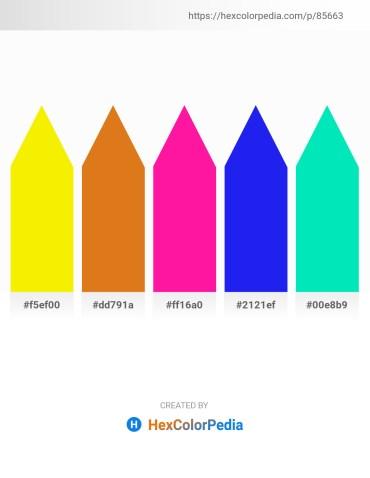 Palette image download - Yellow – Chocolate – Deep Pink – Blue – Medium Spring Green