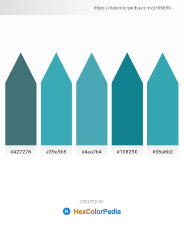 Palette image download - Dark Slate Gray – Sienna – Steel Blue – Dark Cyan – Steel Blue