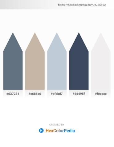 Palette image download - Slate Gray – Rosy Brown – Light Steel Blue – Dark Slate Gray – White Smoke