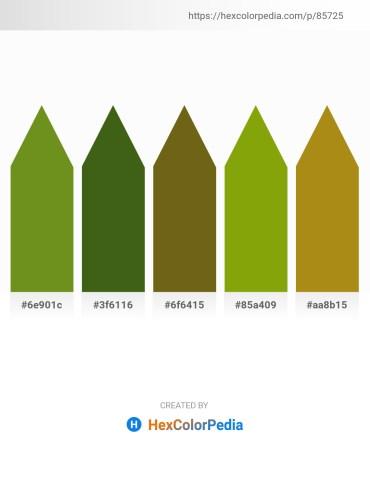 Palette image download - Olive Drab – Forest Green – Light Coral – Olive – Dark Goldenrod
