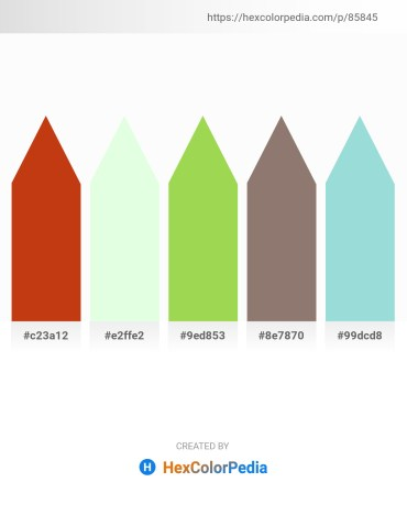 Palette image download - Chocolate – Honeydew – Yellow Green – Gray – Powder Blue