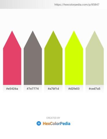 Palette image download - Crimson – Gray – Yellow Green – Yellow – Tan