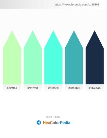 Palette image download - Pale Green – Aquamarine – Aquamarine – Dark Turquoise – Dark Slate Gray