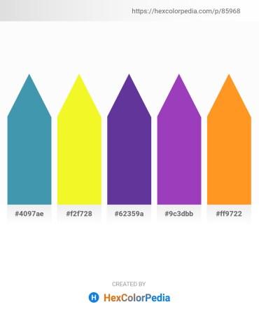 Palette image download - Steel Blue – Yellow – Dark Slate Blue – Dark Orchid – Dark Orange