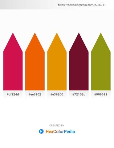 Palette image download - Crimson – Orange Red – Dark Orange – Teal – Dark Goldenrod