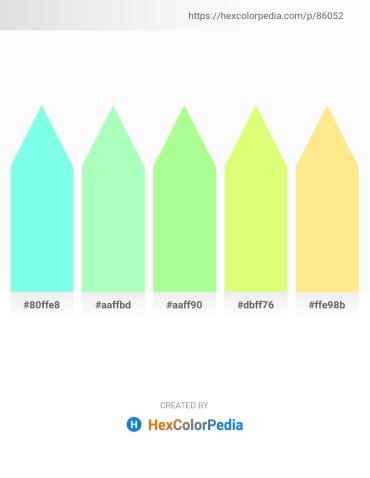Palette image download - Aquamarine – Pale Green – Pale Green – Hot Pink – Navajo White