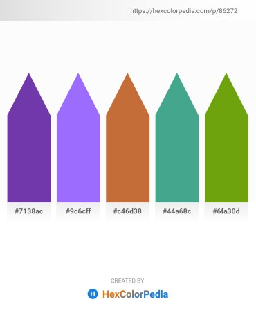 Palette image download - Dark Orchid – Medium Slate Blue – Peru – Medium Sea Green – Olive