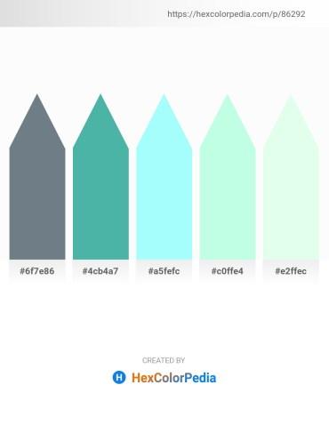 Palette image download - Slate Gray – Medium Aquamarine – Aquamarine – Light Cyan – Honeydew