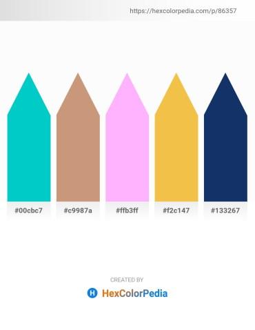 Palette image download - Dark Turquoise – Tan – Pink – Sandy Brown – Midnight Blue