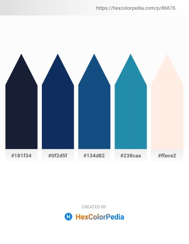 Palette image download - Dark Slate Gray – Midnight Blue – Midnight Blue – Light Sea Green – Misty Rose