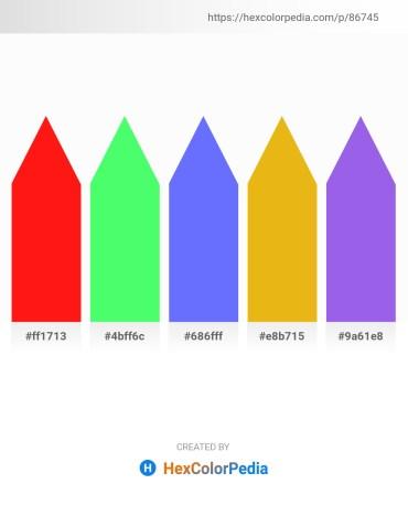 Palette image download - Red – Spring Green – Medium Slate Blue – Goldenrod – Medium Slate Blue