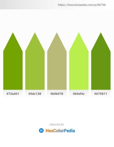 Palette image download - Olive – Yellow Green – Dark Khaki – Green Yellow – Olive Drab