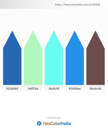 Palette image download - Royal Blue – Pale Green – Aquamarine – Royal Blue – Dim Gray