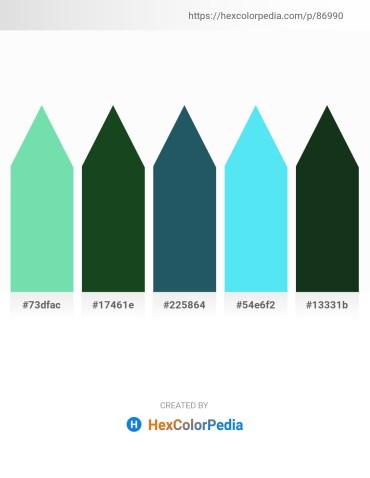 Palette image download - Medium Aquamarine – Medium Turquoise – Medium Turquoise – Turquoise – Dark Slate Gray