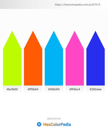 Palette image download - Green Yellow – Orange Red – Deep Sky Blue – Hot Pink – Royal Blue