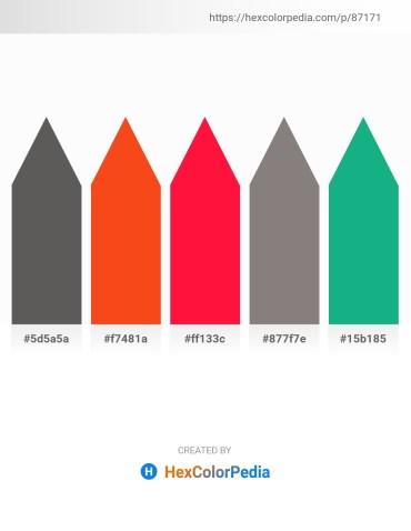 Palette image download - Dim Gray – Orange Red – Red – Gray – Light Sea Green