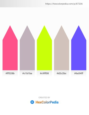 Palette image download - Hot Pink – Silver – Yellow – Silver – Medium Slate Blue