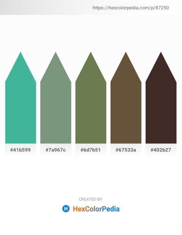 Palette image download - Medium Sea Green – Dark Sea Green – Dark Olive Green – Dark Olive Green – Turquoise