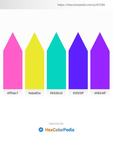 Palette image download - Hot Pink – Salmon – Dark Turquoise – Dark Violet – Dark Violet