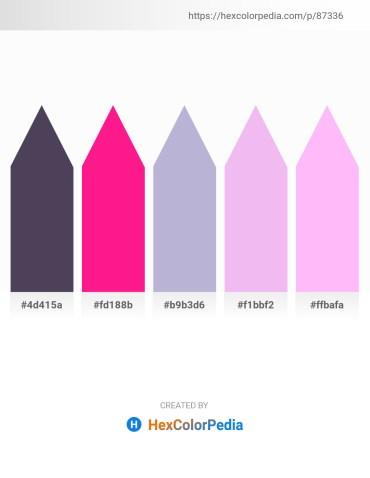 Palette image download - Dim Gray – Deep Pink – Light Steel Blue – Lavender – Pink
