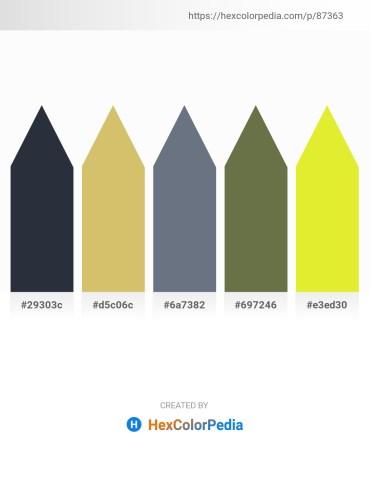 Palette image download - Dark Slate Gray – Burlywood – Slate Gray – Dark Olive Green – Green Yellow