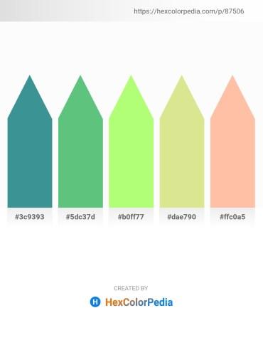 Palette image download - Cornflower Blue – Medium Sea Green – Pale Green – Pale Goldenrod – Navajo White