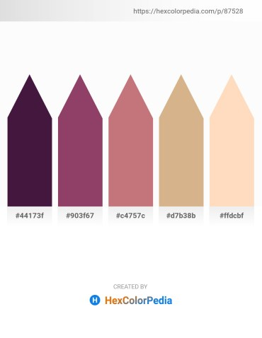 Palette image download - Indigo – Indian Red – Indian Red – Tan – Peach Puff