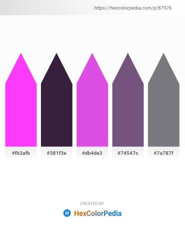 Palette image download - Magenta – Dark Slate Blue – Medium Orchid – Dark Slate Blue – Slate Gray