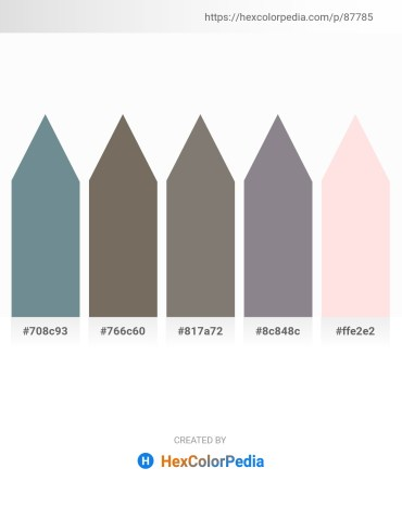 Palette image download - Slate Gray – Dim Gray – Gray – Gray – Misty Rose