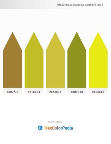 Palette image download - Medium Purple – Goldenrod – Yellow Green – Olive Drab – Yellow