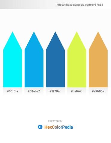 Palette image download - Aqua – Deep Sky Blue – Dark Gray – Green Yellow – Sandy Brown