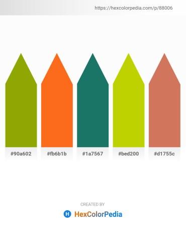 Palette image download - Olive – Dark Orange – Sea Green – Gold – Indian Red