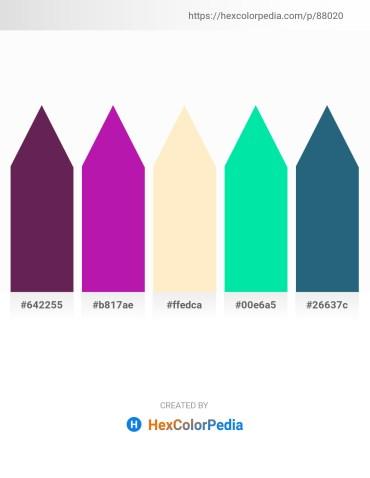 Palette image download - Blue Violet – Medium Violet Red – Blanched Almond – Medium Spring Green – Tomato