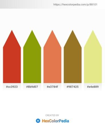 Palette image download - Firebrick – Olive – Dark Salmon – Pale Goldenrod – Khaki