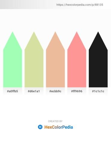 Palette image download - Pale Green – Pale Goldenrod – Burlywood – Light Salmon – Black