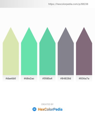 Palette image download - Pale Goldenrod – Turquoise – Medium Aquamarine – Slate Gray – Gray