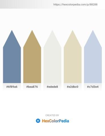 Palette image download - Light Slate Gray – Dark Khaki – White Smoke – Beige – Light Steel Blue