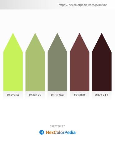 Palette image download - Green Yellow – Dark Khaki – Gray – Olive Drab – Dark Khaki