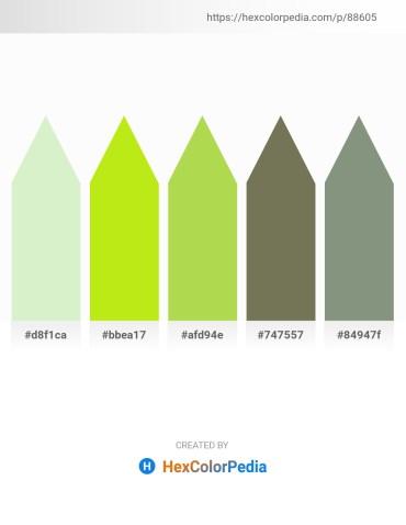 Palette image download - Beige – Green Yellow – Yellow Green – Dim Gray – Dark Sea Green