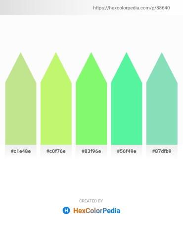 Palette image download - Pale Goldenrod – Pale Green – Pale Green – Pale Green – Medium Aquamarine