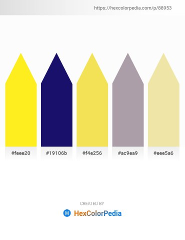 Palette image download - Yellow – Midnight Blue – Sky Blue – Dark Gray – Pale Goldenrod