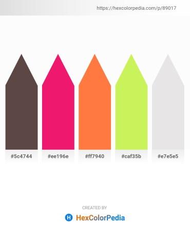 Palette image download - Dim Gray – Crimson – Coral – Green Yellow – Gainsboro