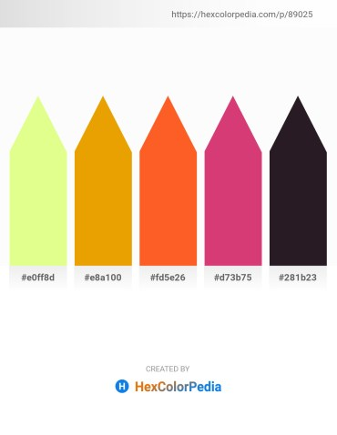 Palette image download - Yellow – Orange – Tomato – Indian Red – Black