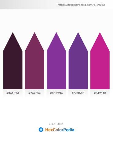 Palette image download - Midnight Blue – Violet – Dark Orchid – Dark Slate Blue – Medium Violet Red