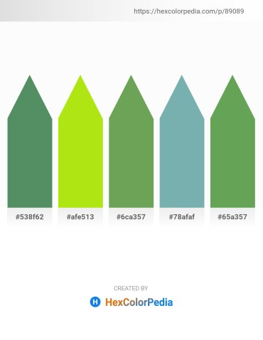 Palette image download - Cadet Blue – Green Yellow – Dark Sea Green – Cadet Blue – Medium Sea Green