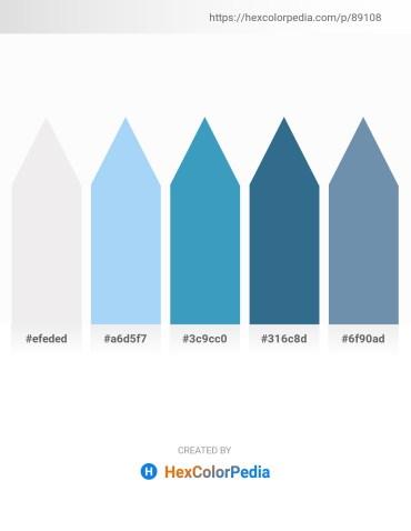 Palette image download - White Smoke – Light Sky Blue – Steel Blue – Steel Blue – Cadet Blue