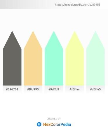 Palette image download - Dim Gray – Khaki – Aquamarine – Moccasin – Honeydew