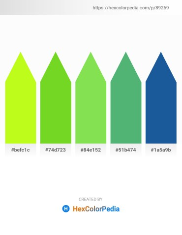 Palette image download - Green Yellow – Yellow Green – Yellow Green – Medium Sea Green – Dim Gray